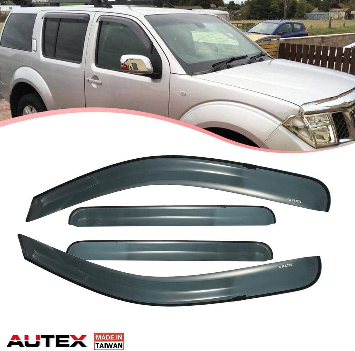 Tape-On Rain Guard Window Visor Dark Grey 4pcs For 2005-2012 Nissan Pathfinder