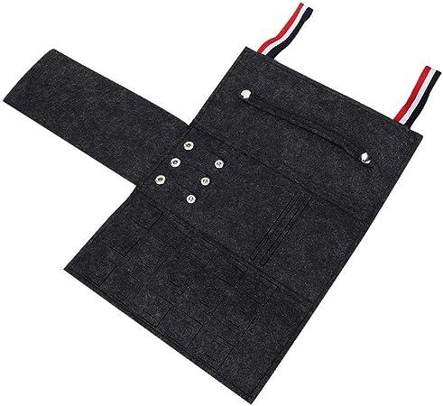 Bolso Plegable portátil para Joyas, Estuche para Joyas de Viaje Organizador de Bolsas para Collar Pulsera Pendientes Anillo con Banda elástica(Negro): Amazon.es: Hogar