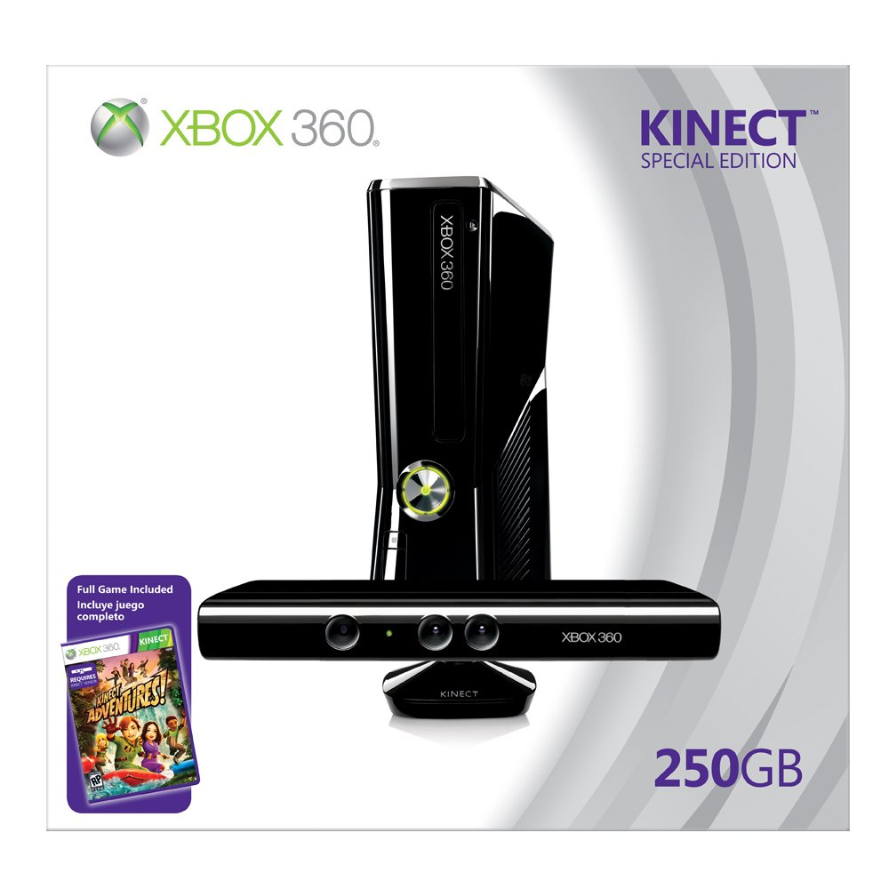 Xbox 360 250GB Console with Kinect by Microsoft