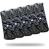 reusable pads menstrual - Sanitary Reusable Cloth Menstrual Pads by Heart Felt | 5 Pack Washable Sanitary Napkins with Charcoal Absobancy Layer - Overnight Long Panty Liners for Comfort and Support