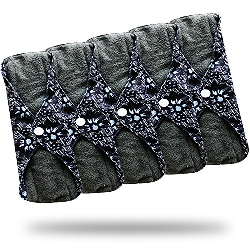 heart-felt-bamboo-reusable-cloth-menstrual-pads-5-pack-medium-flow-with-charcoal-absorbency-layer-wa