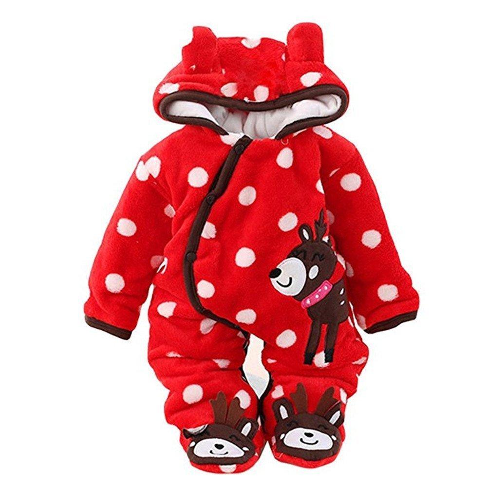 Newborn Snowsuit Baby Unisex Winter,Romper Infant Babies Snowsuit Red Jumpsuits