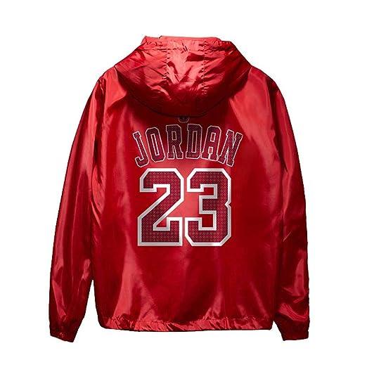 Chicago Bulls Michael Jordan Baloncesto Deportes Chaqueta Sudadera con capucha y cremallera para Hombre,Color sólido