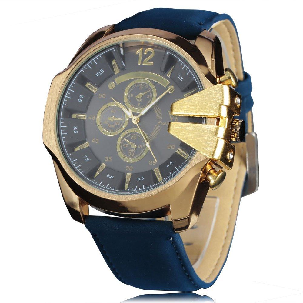 メンズスポーツ腕時計 カウボーイ V6 紳士用クオーツ腕時計 アナログ ミリタリー レザーリスト腕時計 カジュアル ファッション ボーイフレンドへの贈り物に 3# B071FZP75F 3# 3#
