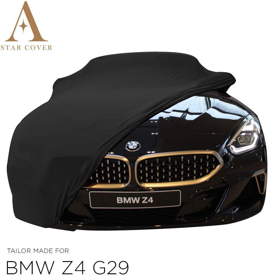 G29 | Noir Housse Housse Cabriolet B/ÂCHE Auto Garage Voiture DE Sport Star Cover Housse INT/ÉRIEUR Compatible avec BMW Z4 Oldtimer LIVR/É Rapide