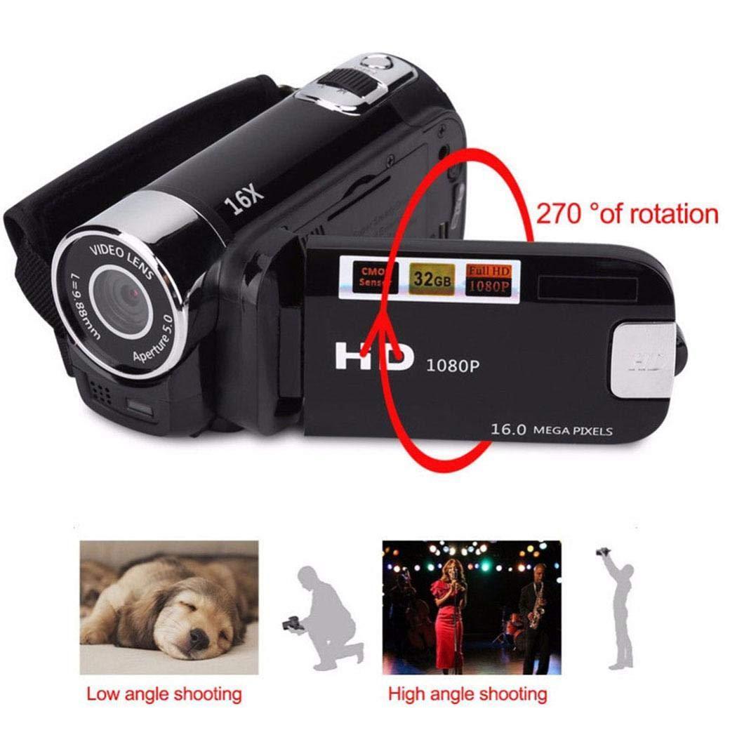dozenla 1080P Anti-Shake Digital Camera Professional Video Record Camera Gifts Digital Cameras
