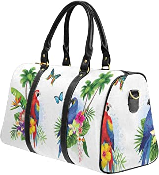 Tropical Leaves Green Cactus Large Travel Duffel Bag For Women Men Overnight Weekend Lightweight Luggage Bag
