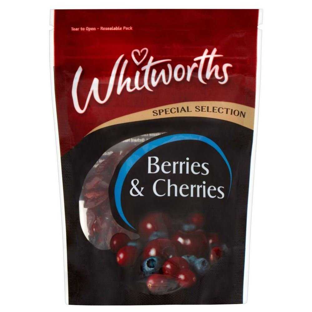 Whitworths Special Selection Berries & Cherries (70g) - Pack of 2