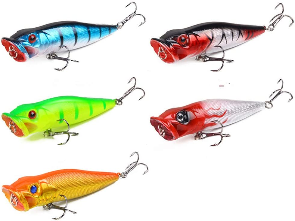 Details about  /14g Simulation  Fishing Popper Wobbler Baits Fish Lures Tackle Tool Novelty