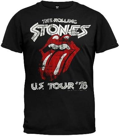 The Rolling Stones Mens Black T Shirt Us Tour 1978 Official