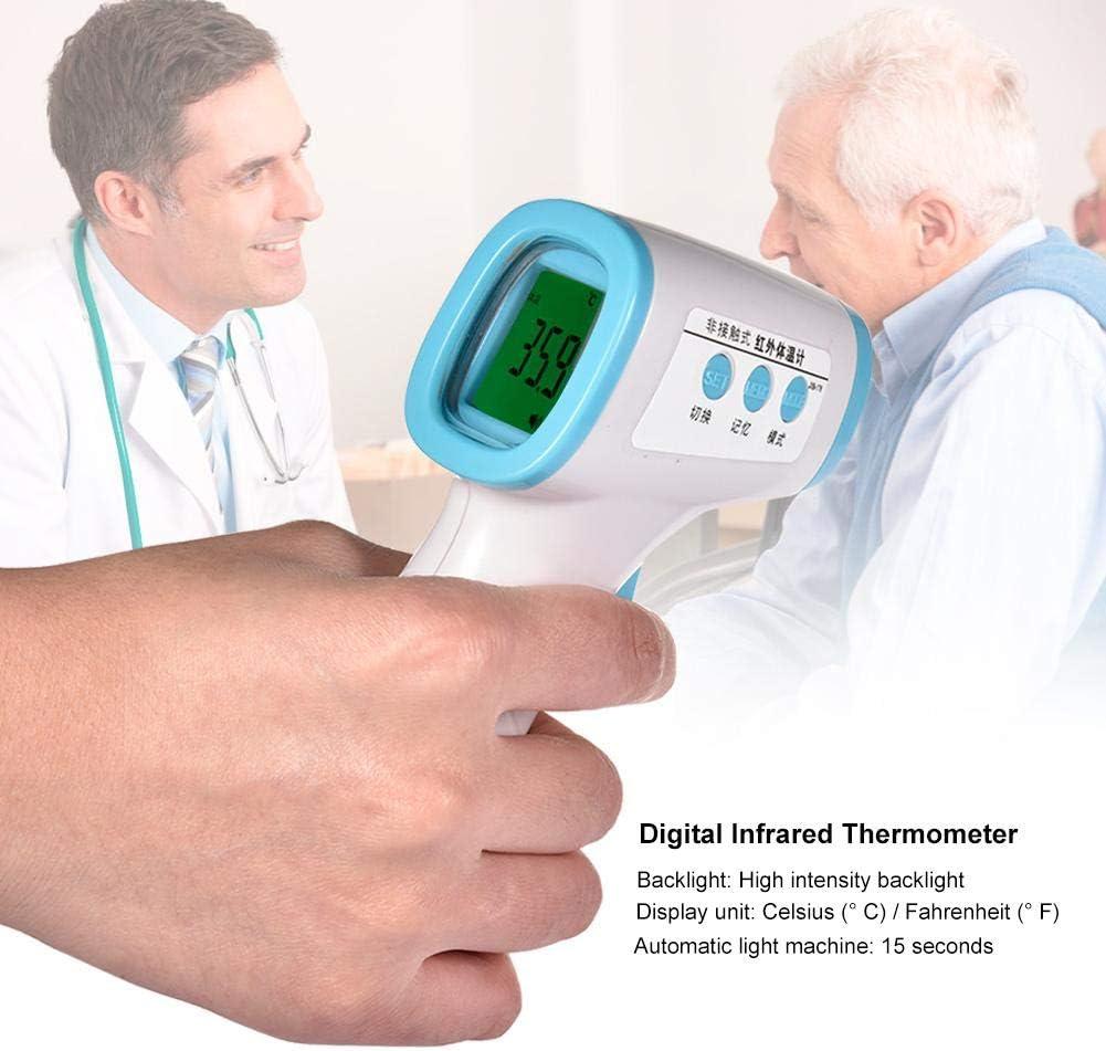 Cracklight Term/ómetro de Frente de o/ído Term/ómetro Temporal infrarrojo Digital para beb/és Ni/ños Adultos Lectura precisa instant/ánea Term/ómetro Digital sin Contacto