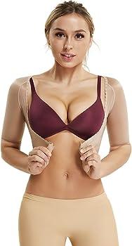 36cd790d1 Arm Shapers for Women Compression Sleeves Upper Shapewear Posture Corrector  Slimming Vest Crop Tops. Womens Seamless Arm Shaper Slim Upper Sleeves ...