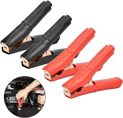 5X 50A cable aislado pinzas de cocodrilo Alambre Abrazadera de prueba para Auto Coche perfectamente!