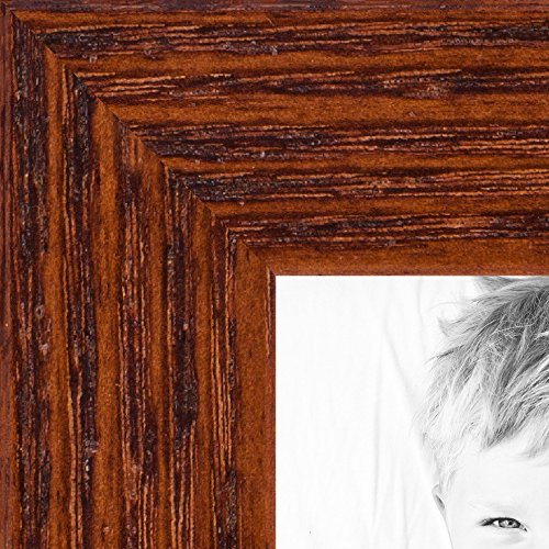 ArtToFrames 24x36 inch Walnut on Red Oak Wood Picture Frame,