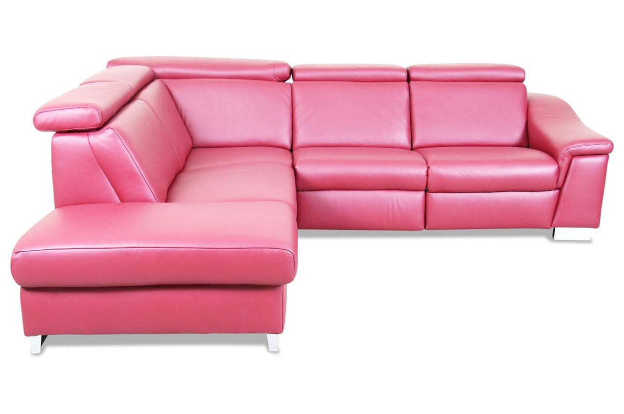 sofa ada alina megaecke 7520 echt leder rot g nstig. Black Bedroom Furniture Sets. Home Design Ideas
