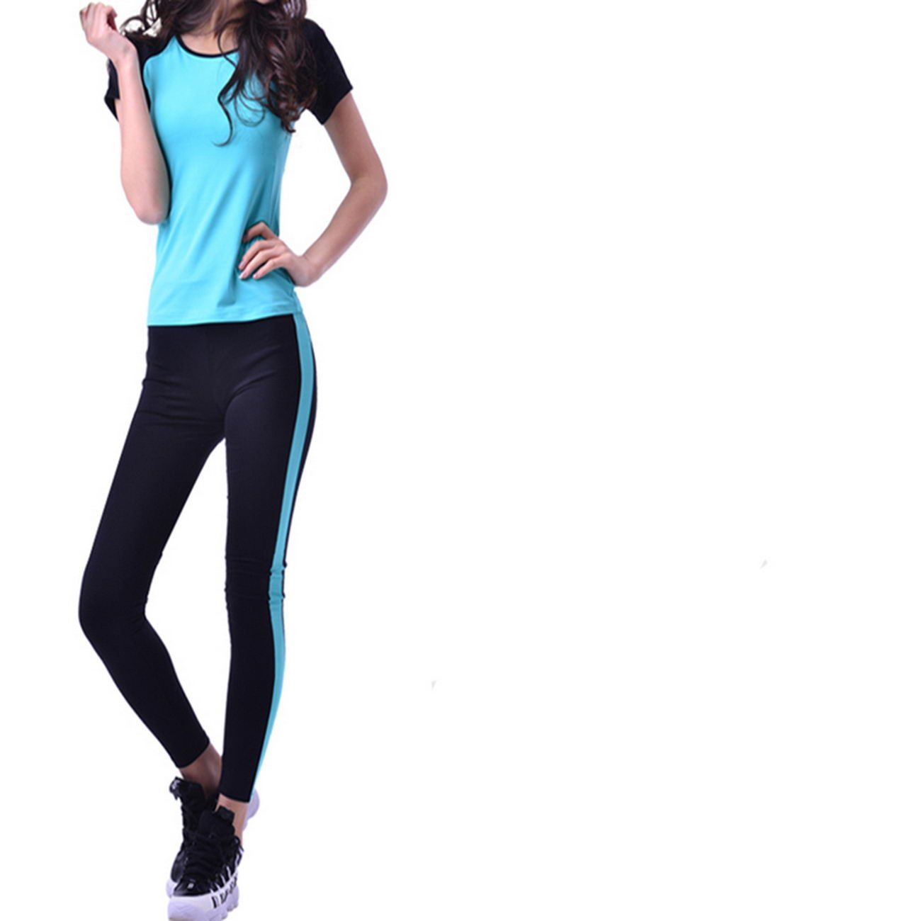 WENXINJIA Nylon, sports, suits, women, spring and summer, yoga clothes, suits, thin running fitness clothing yoga clothing. , Suits yoga clothes suit was thin yoga clothes suit yoga clothes -01
