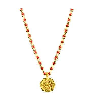 Buy BFC- Golden Designer One Gram Gold Red Crystal Black Princess ... 34dd21245