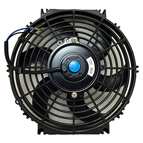 6 Fan Cyl Cooling Radiator (Upgr8 Universal High Performance 12V Slim Electric Cooling Radiator Fan With Fan Mounting Kit (10 Inch, Black))