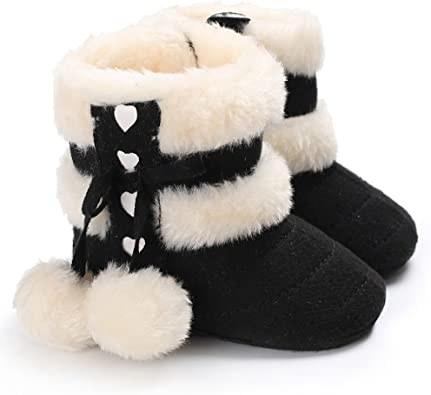 Baulody Baby Boy Girl Christmas Deer Cartoon Soft Sole Winter Toddler Snow Boots