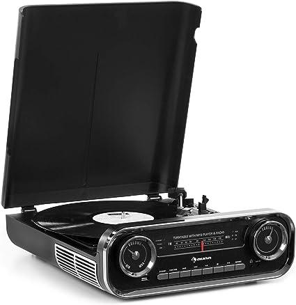 auna Challenger LP Tocadiscos con Altavoces estéreo: Amazon.es ...