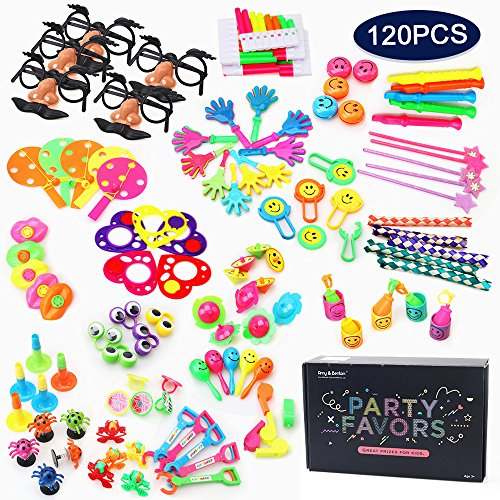 Amy&Benton 120PCS Carnival Prizes for Kids Birthday Party Favors Prizes Box Toy Assortment for Classroom - Carnival Assortment