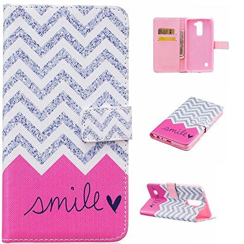 Qiaogle Teléfono Case - Funda de PU Cuero Billetera Clamshell Carcasa Cover para Vodafone Smart Ultra 6 (5.5 Pulgadas) - YH24 / Anchor + Smile YH24 / Anchor + Smile