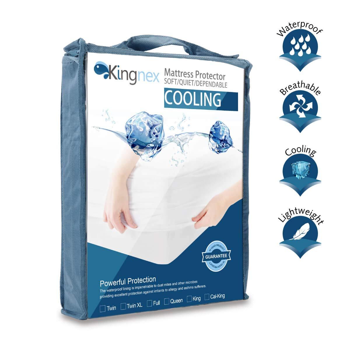 Amazon.com: Kingnex - Protector de colchón de refrigeración ...