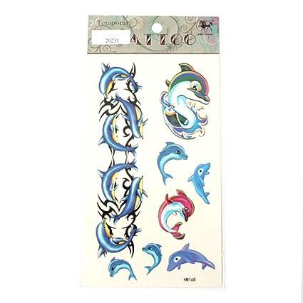 Tatuajes delfines Azul y rosa: Amazon.es: Belleza