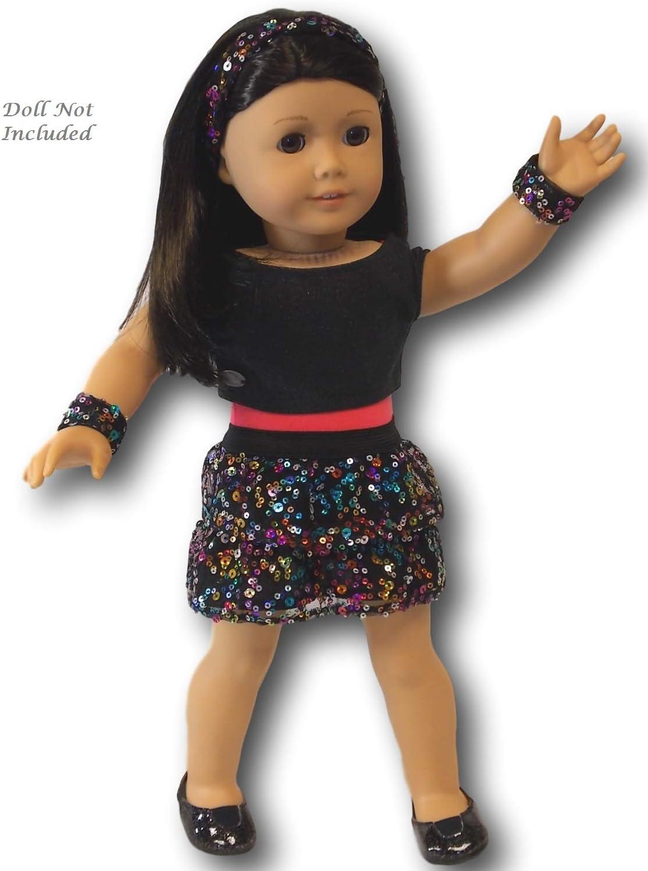 American Girl Truly Me スパークリングスターダンス衣装 18インチ人形用 (人形は含まれません)