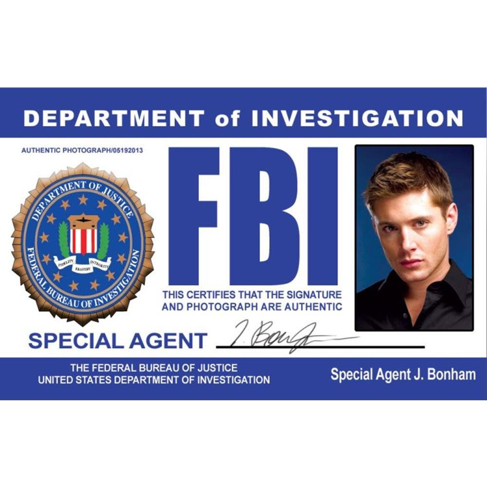 Supernatural Dean's Driver's License