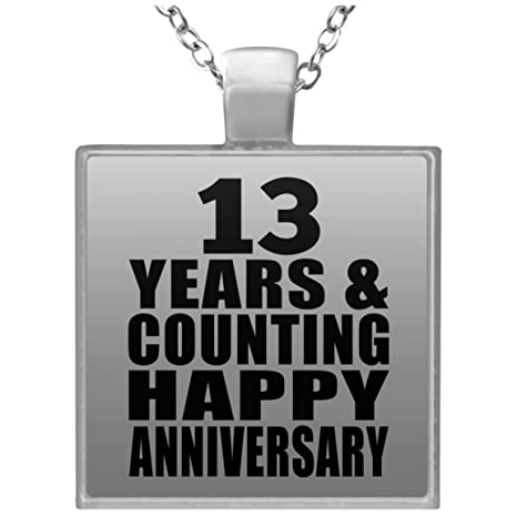 Amazon Anniversary Necklace 13 Years Counting Happy