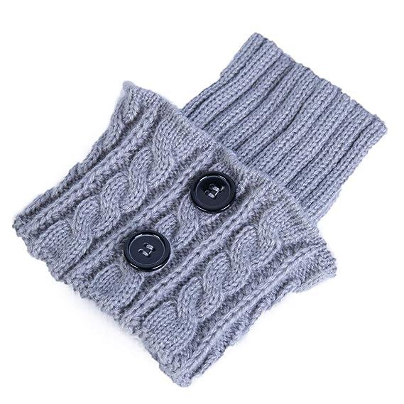 FAMILIZO Calcetines Mujer De Invierno Caliente Crochet Grueso Punto De Arranque Manguito Calcetín Corto De Pierna Caliente Tobilleros Antideslizantes: ...