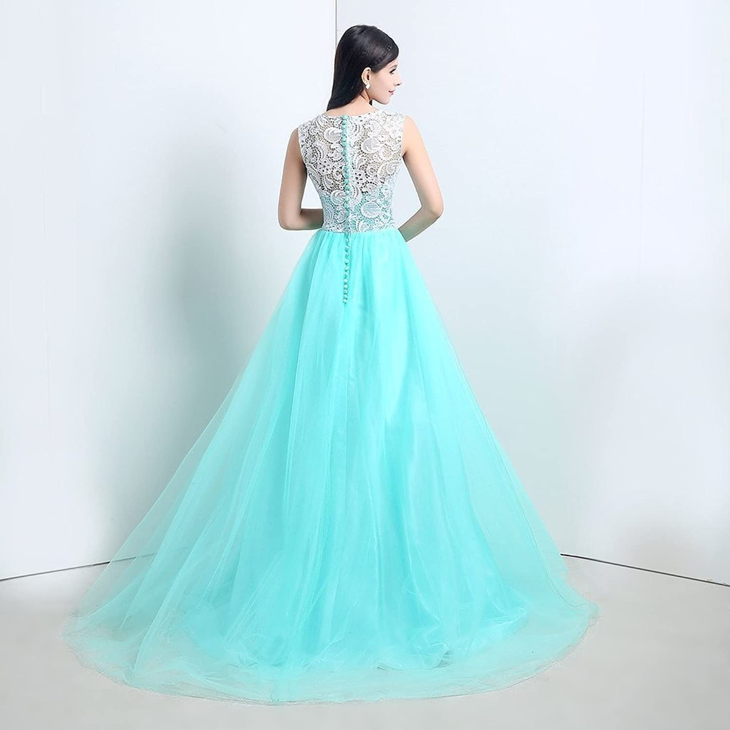 Amazon.com: JoyVany Tulle Party Prom Dresses 2016 Lace Formal ...