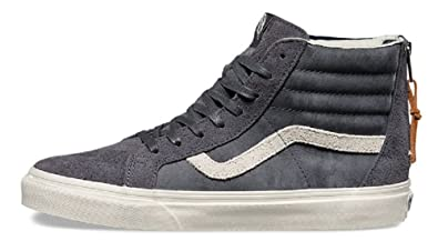 5e6935149e7488 Vans Sk8-Hi Zip DX (Varsity) Gray (Mens 3.5 Womens 5