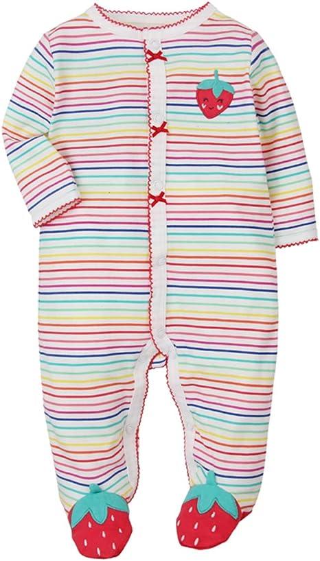 Cotton Pajamas Cartoon Overalls with 0-12 Months CARETOO Unisex Baby Sleepsuit Bear