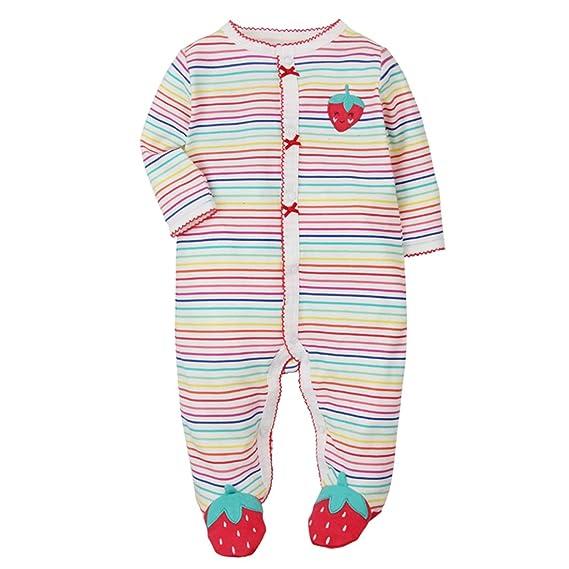 c9f83d1746ec6 CARETOO Cartoon Overall Pyjamas pour bébé Unisexe 0-12 Mois - Rouge - 0-