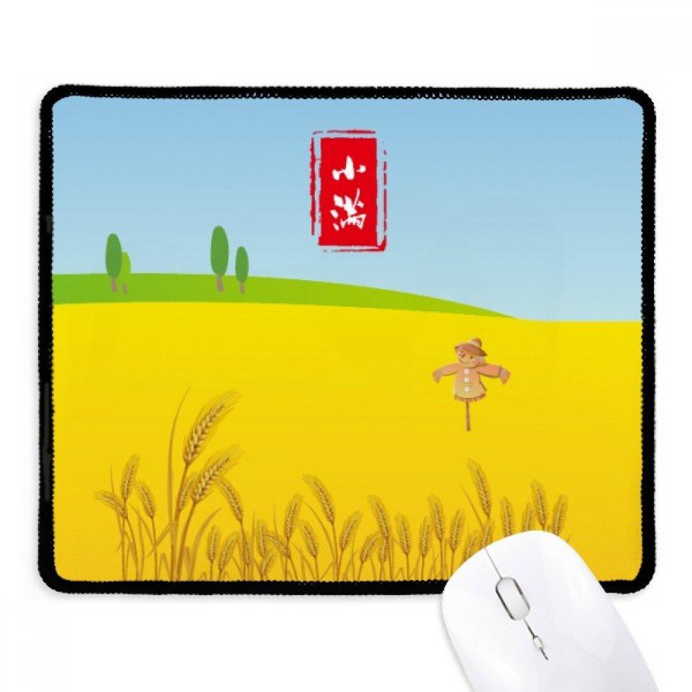 Circlar Grain Full Twenty Four Solar Term Non-Slip Mousepad Game Office Black Stitched Edges Gift
