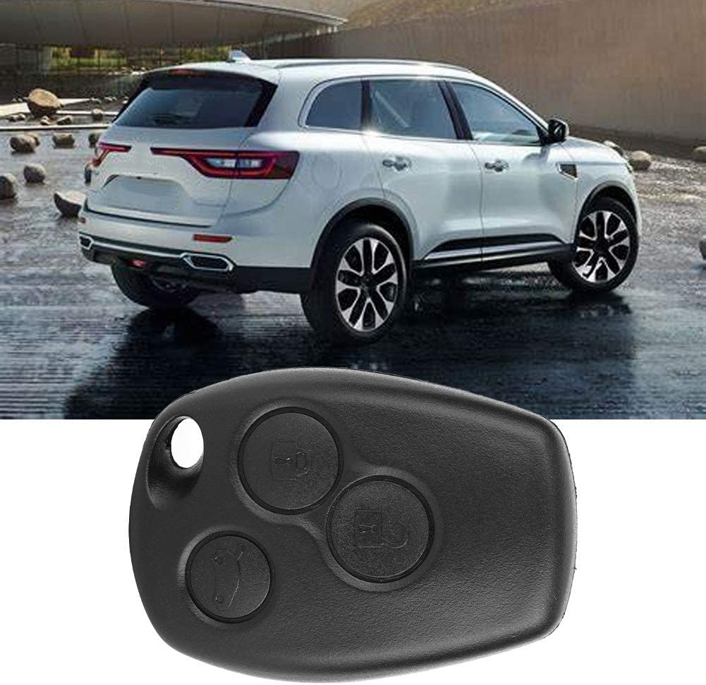 Car Remote Control Key,3 Button Car Key Fob Case Remote Key Fob Shell Case Fit for Logan Sandero Clio Fluence Vivaro Master Traffic