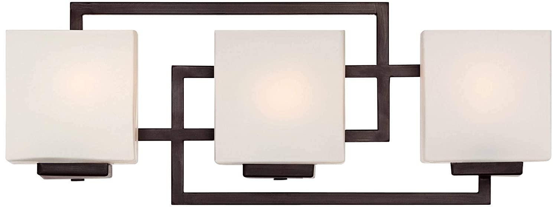 Lighting on The Square 21 Wide Bronze Bath Wall Light – Possini Euro Design