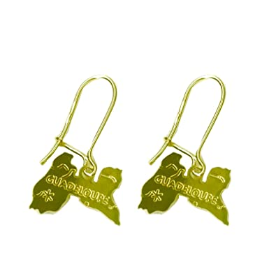 Diamantly Boucles D Oreilles Dormeuses Guadeloupe Or 375 1000 9