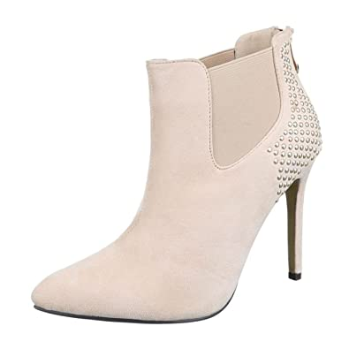46f2b20b4cbc54 Cingant Woman Damen Stiefelette/High Heels/Elegante Damenschuhe/Halbhohe  Stiefel/Ankle Boots