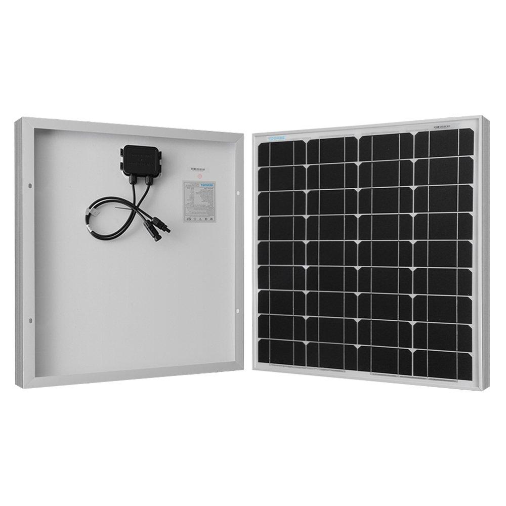 Renogy Monocrystalline 50W Watts Solar Panel UL Listed Off Grid 12 Volt 12V RV Boat