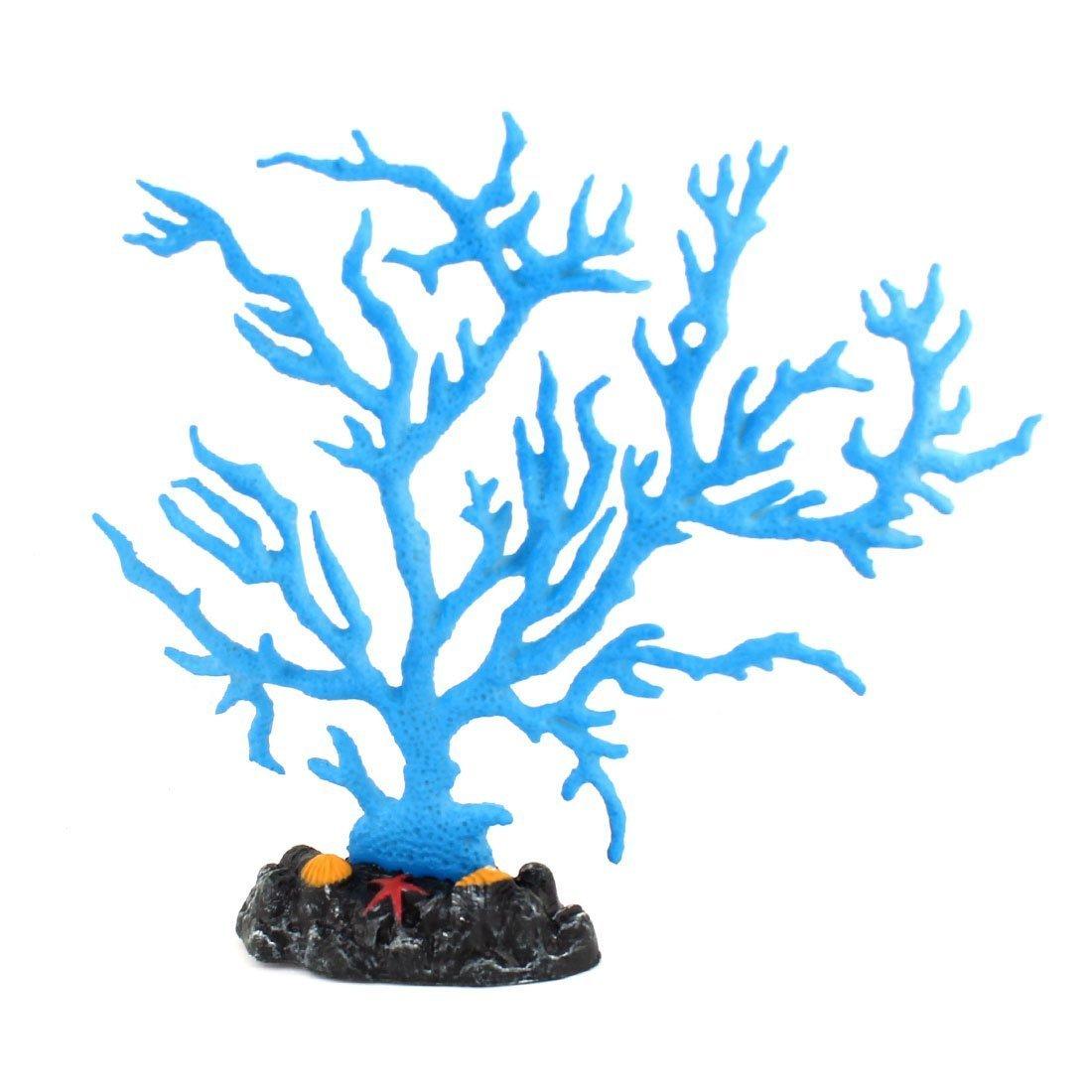 1Pc Aquarium Artificial Glowing Rockery Coral Plant Decoration Dodger bluee