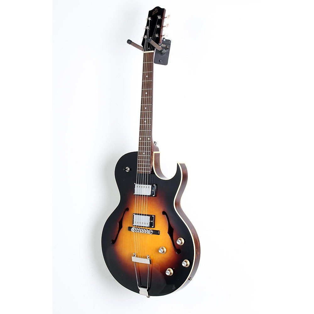 The Loar LH-304T Thinbody Archtop Cutway HH Electric Guitar Level 2 Vintage Sunburst 190839098245