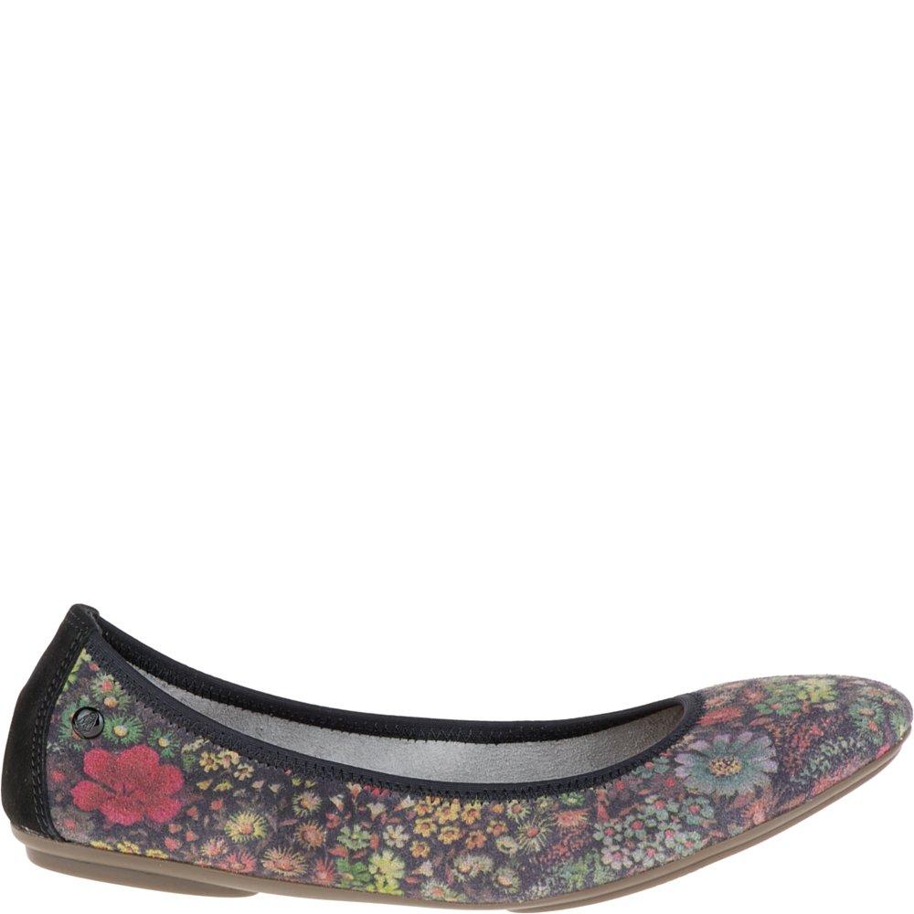 Hush Puppies Women's Chaste Ballet Flats B019YODXCE 7 B(M) US|Black Floral Textile