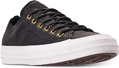 Converse All Star Ox Femme Baskets Mode Noir: