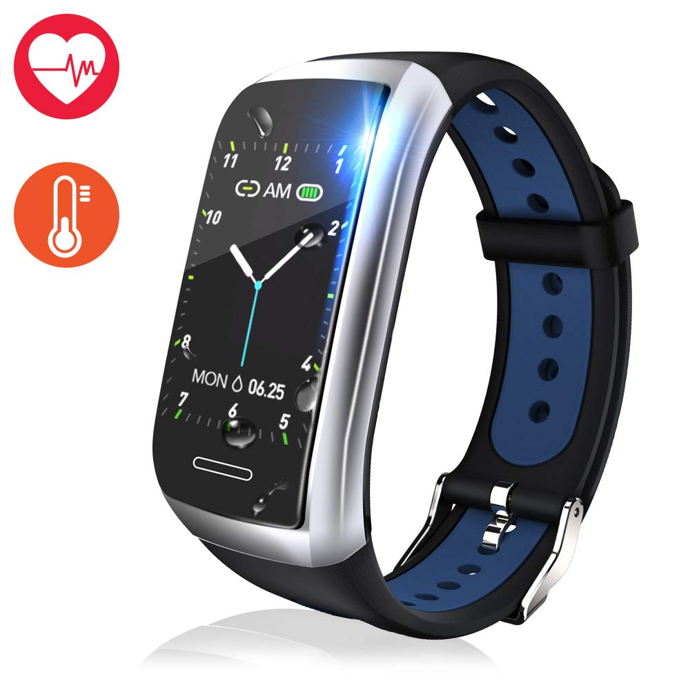 Fitness Tracker Watch, Activity Tracker with Heart Rate Monitor, 1.14 Color Screen Fitness Watch with Blood Pressure Monitor Sleep Monitor, Pedometer Calories Counter Smart Watch
