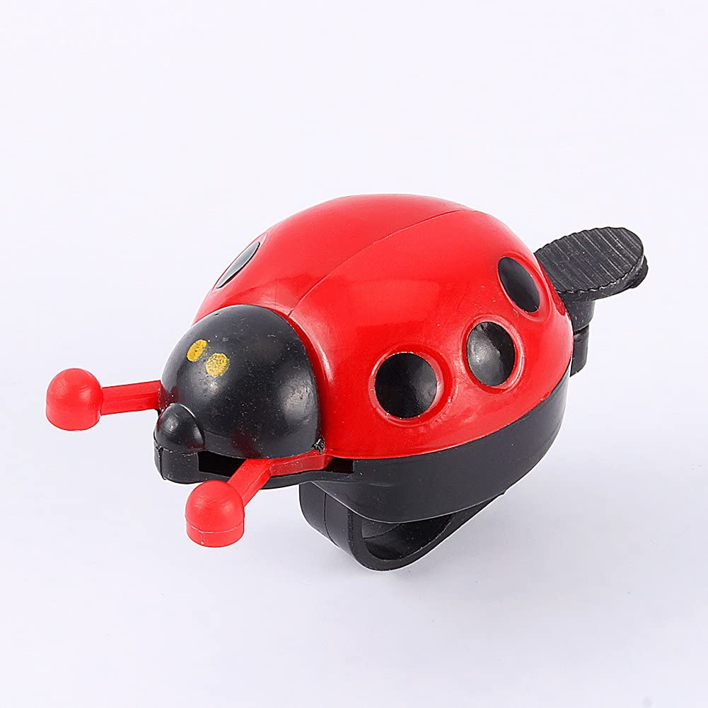 Kids Bicycle Bell Ring Ladybug Bike Bell Cute Gift for Children Outdoor Fun Color : Red