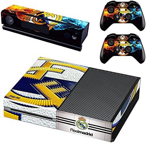 Real Madrid Xbox One Skin Sticker Pegatinas de la piel para la consola y 2x el mando: Amazon.es: Videojuegos