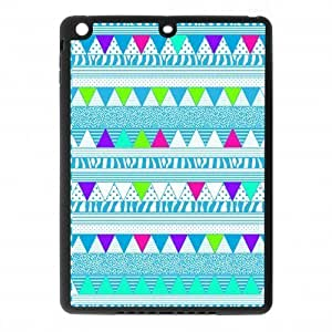 Aztec Colorful Pattern Bohemian Style Blue Polka Dot and Zigzag Design Custom Luxury Cover Case with Best Plastic forIpad air2 (IPad 6)